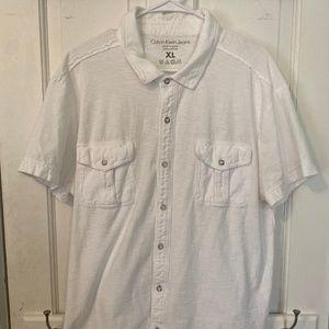 Calvin Klein Jeans White Button Down Shirt - XL
